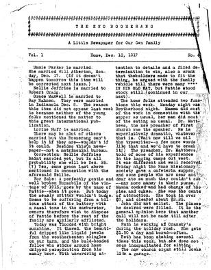 Fred Eno's Boomerang, December 16, 1917