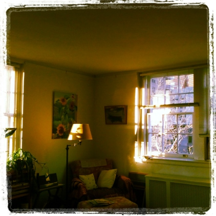 Magic hour in Apt. 58A, January 27, 2013