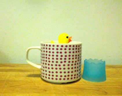 Rubber ducky tea infuser (!), January 28, 2013
