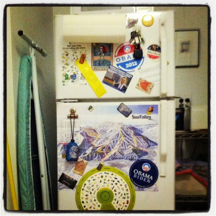 Apt. 58A fridge door, February 26, 2013