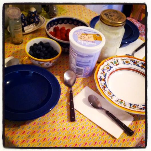 Bery berry breakfast, March 23, 2013