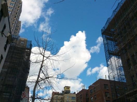 Cumulus clouds, March 26, 2013