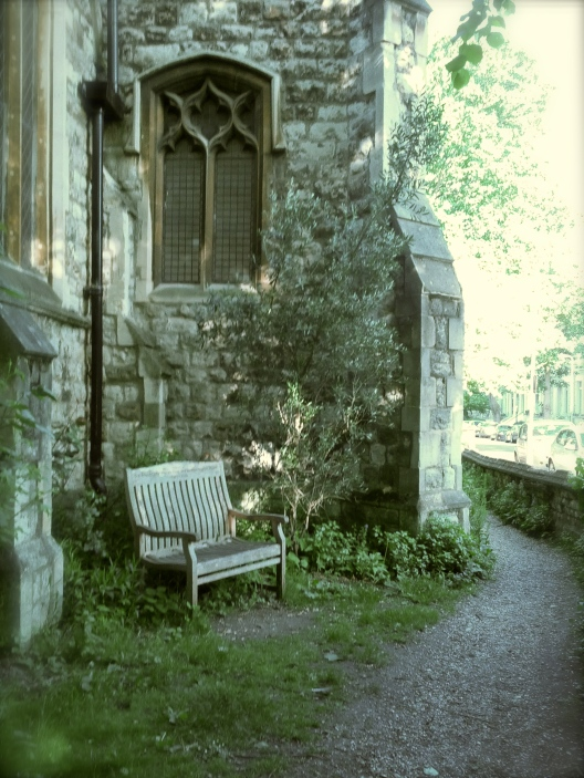 Church-side bench, May 25, 2013