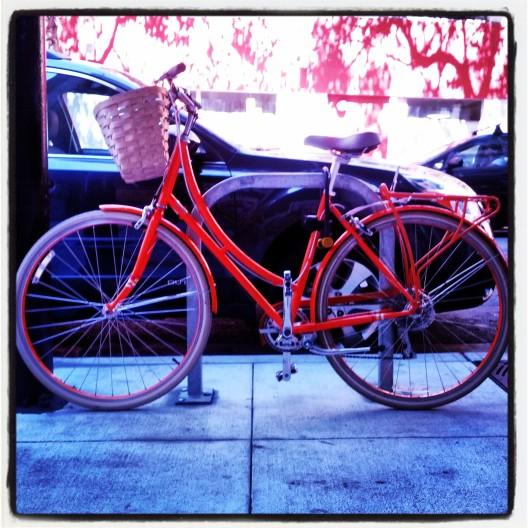 Orange bike, August 29, 2013
