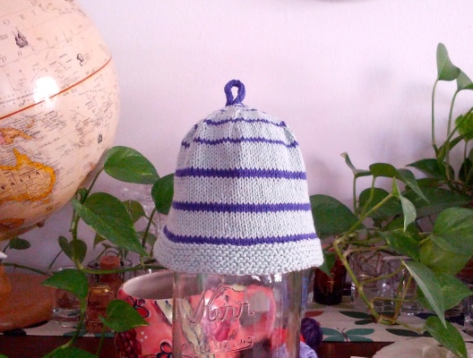 Aqua and purple hat, September 27, 2013