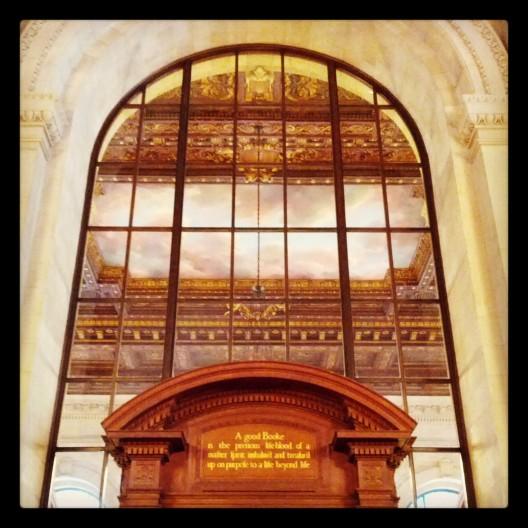 Rose Reading Room entrance, November 22, 2013
