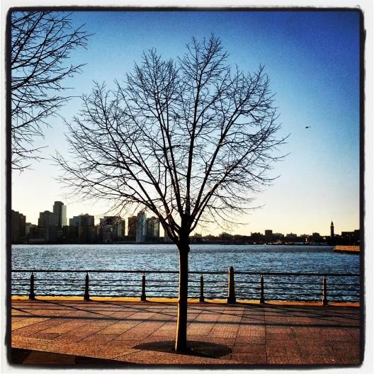 Hudson River at 3:40 PM, November 28, 2013