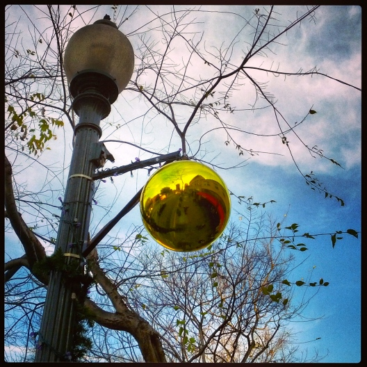 Reflecting globe, December 17, 2013