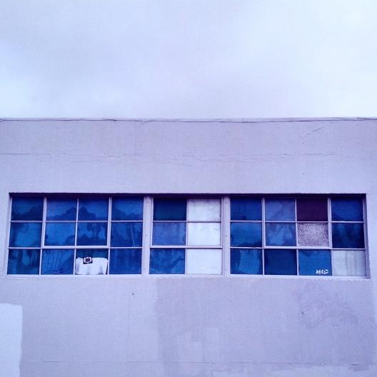 Square blue windows, January 8, 2014