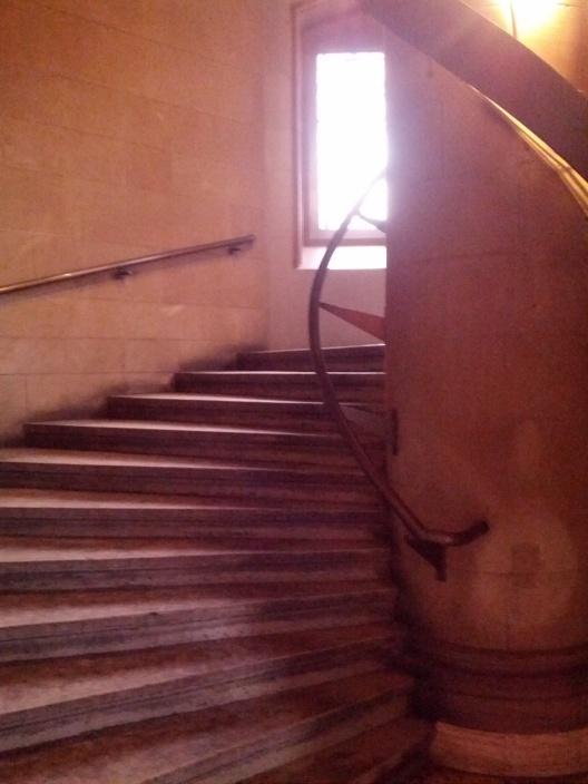 Stairway to books, January 27, 2014