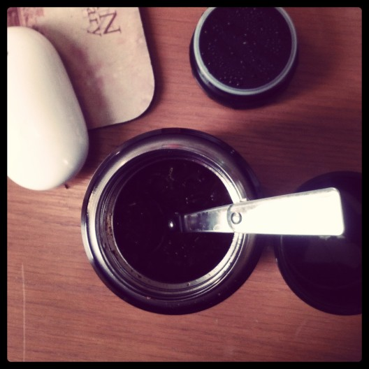 Black bean chili in a thermos, February 27, 2014