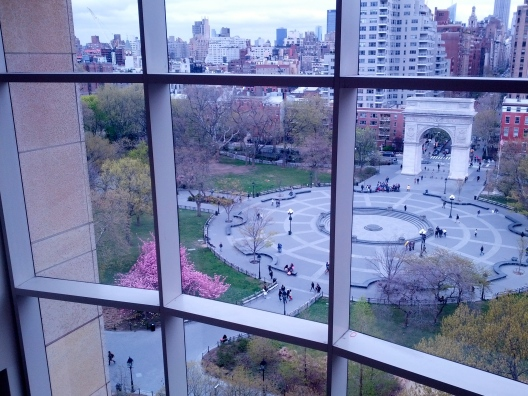 Washington Square Park view, April 29, 2014