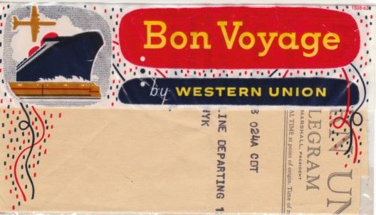 Bon voyage telegram, May 19, 1964