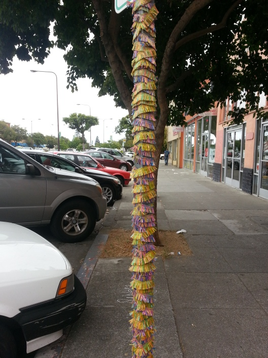 Decorated post, June 10, 2014