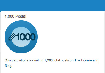 1000 posts, as of July yesterday's, July 31, 2014