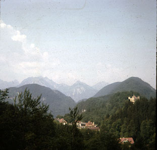 View from Hohenshwangau, July 17 (?), 1964