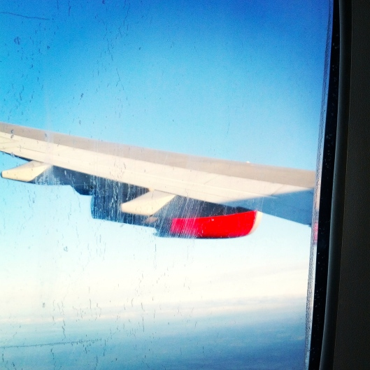 Airplane wing, August 31, 2014