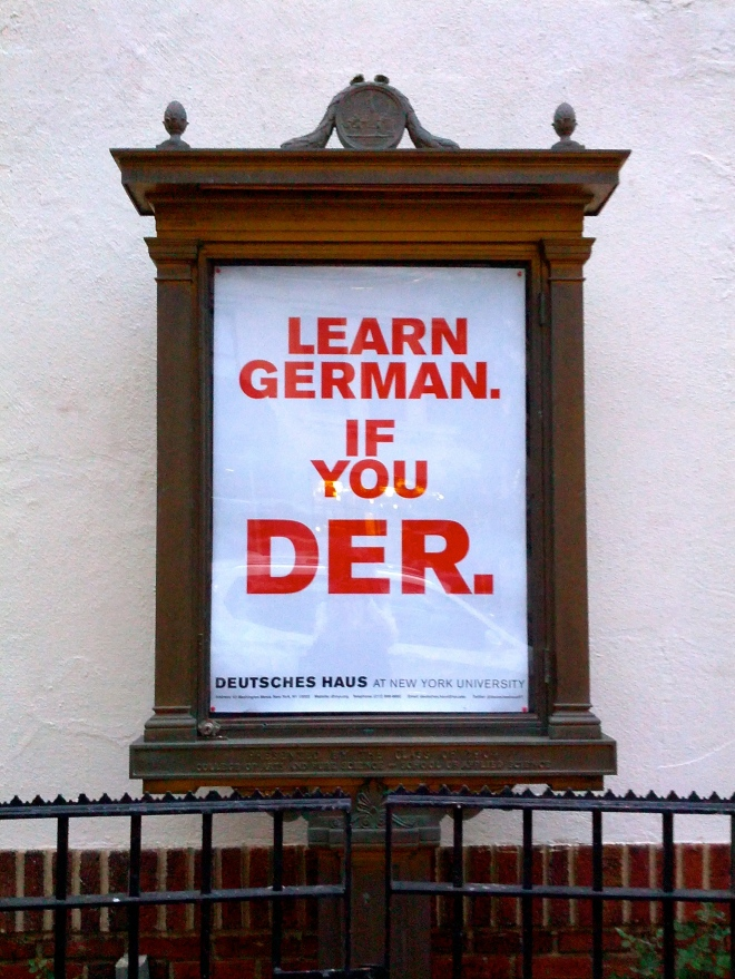 Outside NYU Deutsches Haus, September 24, 2014