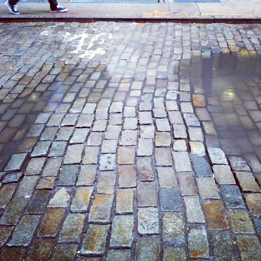 Greene St. cobblestones, September 25, 2014