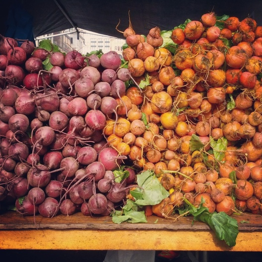 Red and golden beets, November 12, 2014