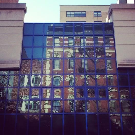 Blue window frames, November 14, 2014