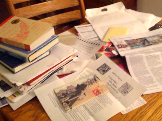Messy table, November 24, 2014