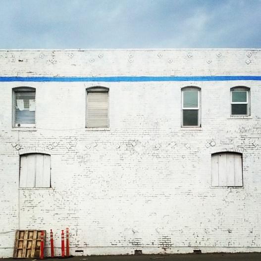 Blue line, white wash, December 24, 2014