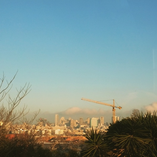 San Francisco from Potrero Hill, 8:10 AM January 3, 2015