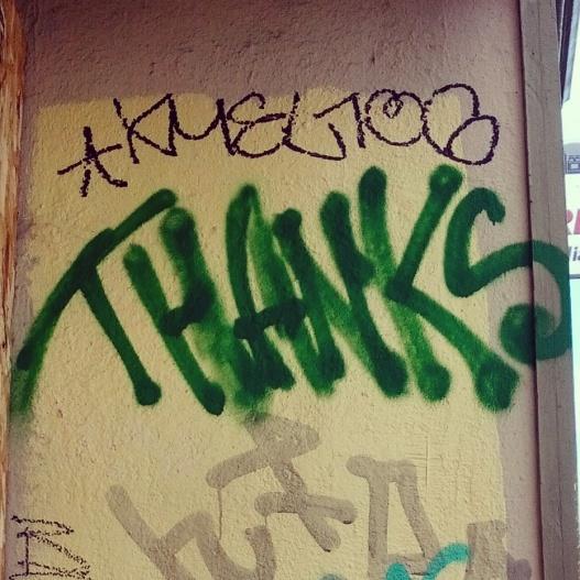Green gratitude, January 28, 2015