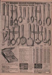 1920 ad for Wm Rogers Silverplate