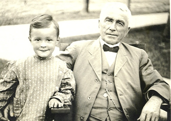 Boy and grandfather, early 20th century