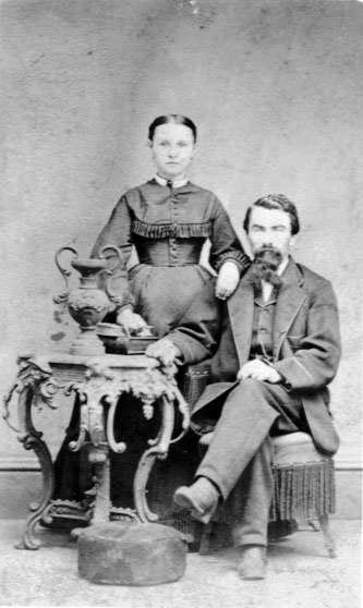 Anna and Francis Sokol, circa 1870s