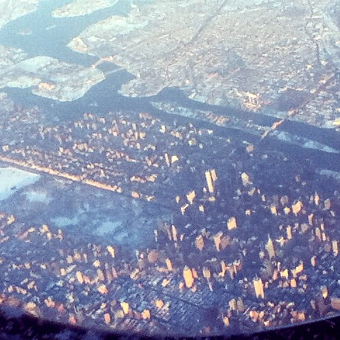 High over frozen Manhattan, March 6, 2015