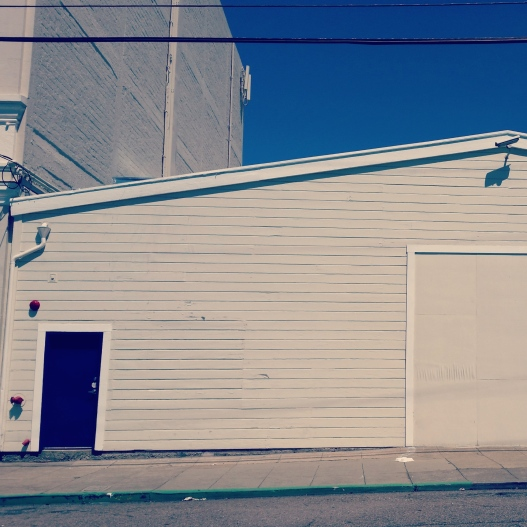 Blue sky, blue door, April 26, 2015