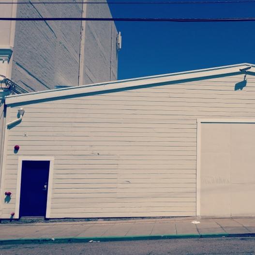 Blue sky, blue door, April 26, 2015