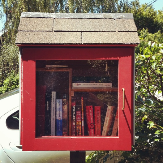Red little free library, June 26, 2015