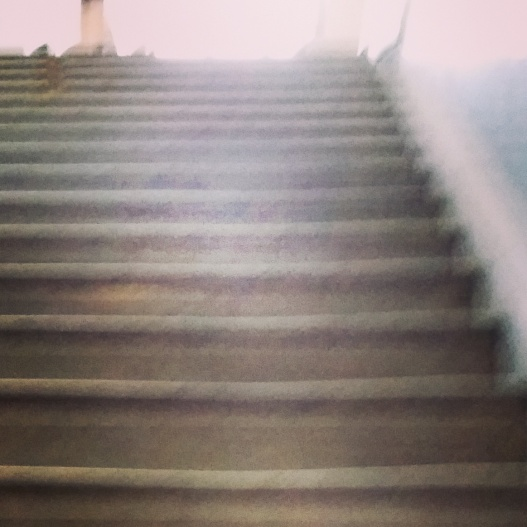 Stairs to reference room, Doe Library, June 29, 2015