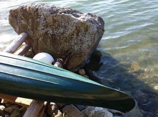 Resting canoe, July 14, 2015