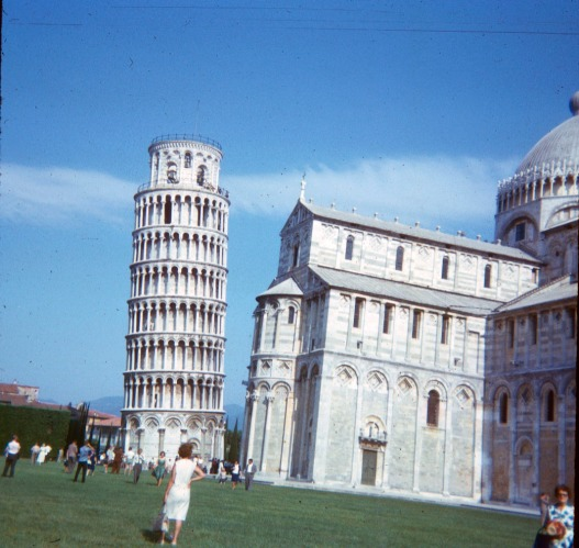 Leaning tower of Pisa, June 1964