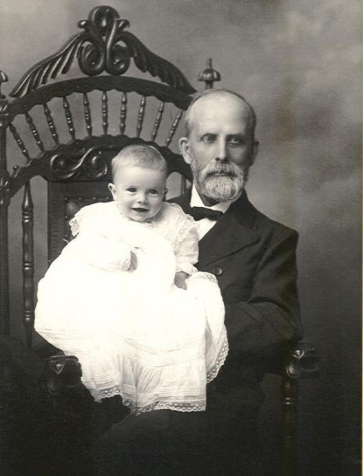 John Cook Gates and grand-daughter Beatrice Gates, circa 1901