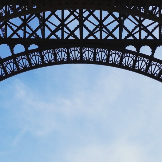 Eiffel tower from underneath, October 11, 2015