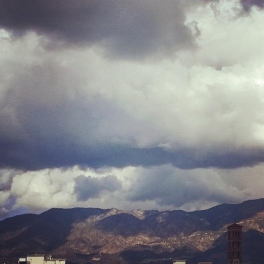 Lowering clouds, 1:10 PM November 3, 2015