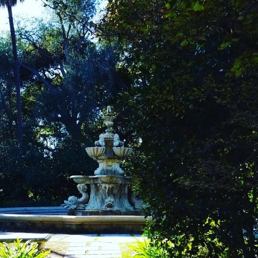 Garden fountain, November 7, 2015